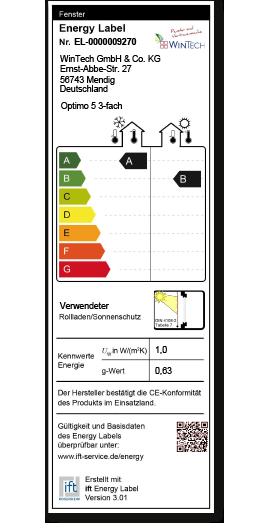 Energielable Optimo5 3fach